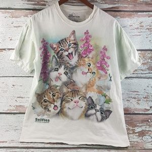 Selfie Howard Robinson cat cats shirt funny L